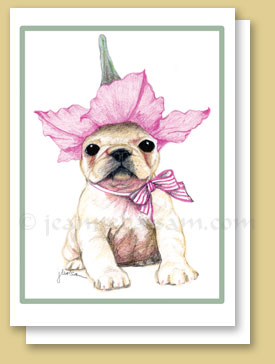 Frenchie Flower Hat