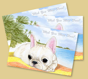 Island Frenchie Postcards
