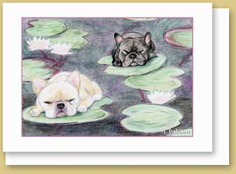 Frenchie Monet Cards